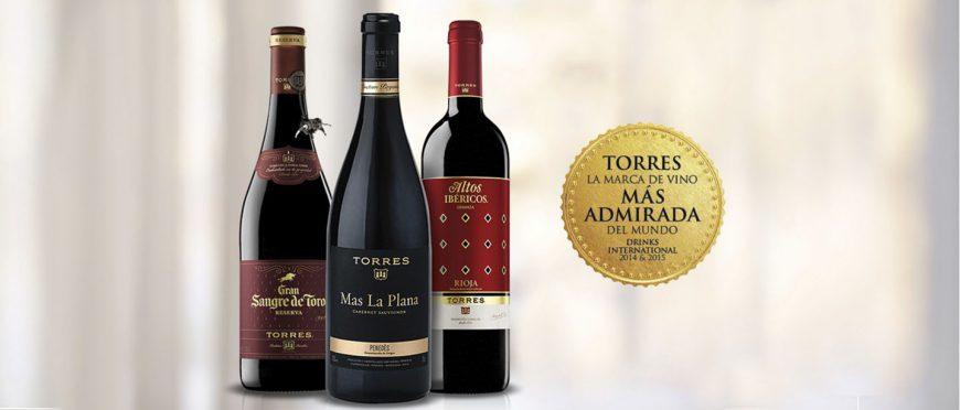 Bodegas Torres: la marca más admirada en Europa 2016