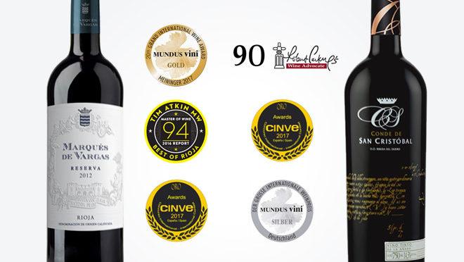 La excelencia de los vinos de Marqués de Vargas reconocida en las más importantes competencias.